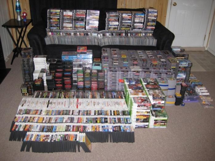 Incrível coleção de games físicos de várias plataformas diferentes