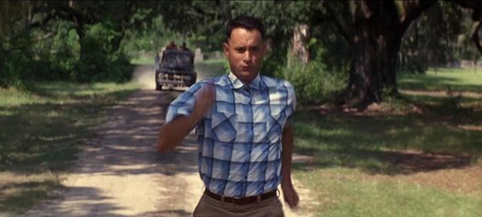 Forrest Gump correndo imagem do filme