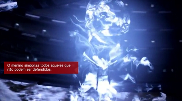 Mass Effect 3 menino fantasma na Citadela
