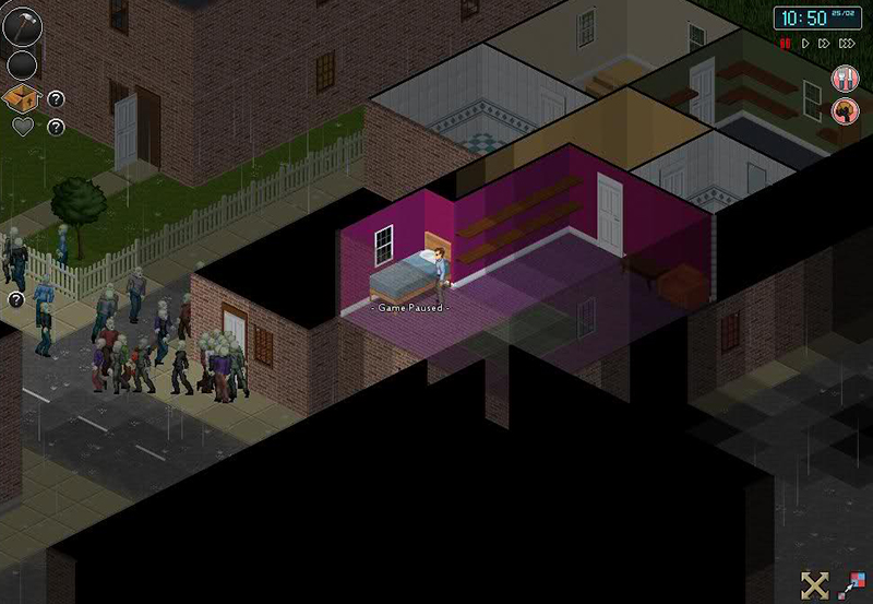 Project Zomboid dentro de casa